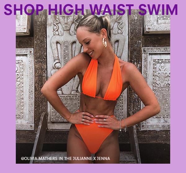 frankies bikinis high waist swimwear