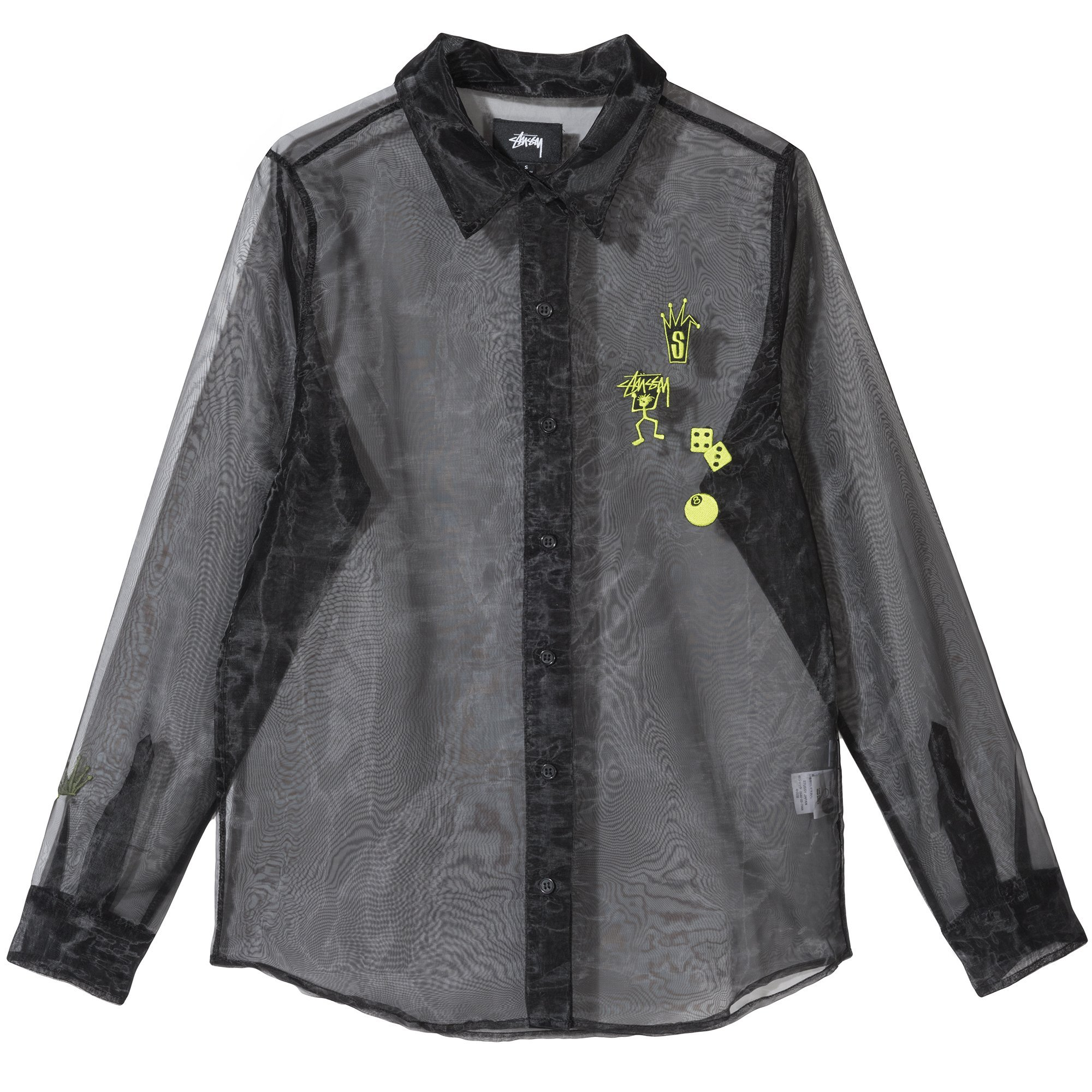 Image of SHEER EMBROIDERED SHIRT