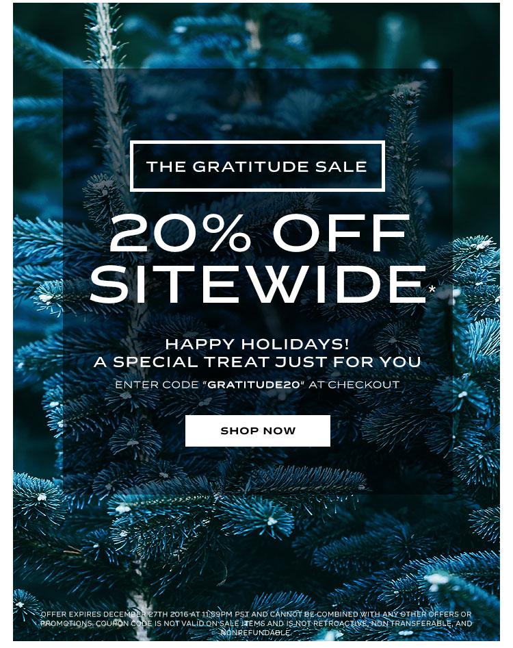 Carbon38's Gratitude Sale
