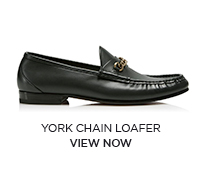 YORK CHAIN LOAFER. VIEW NOW.