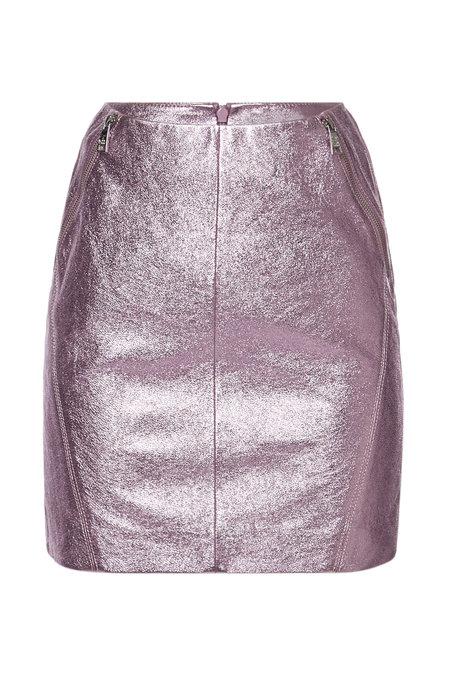Metallic Leather Skirt | KARL X KAIA GERBER