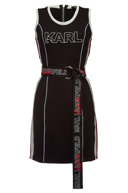 Printed Jersey Dress | KARL X KAIA GERBER