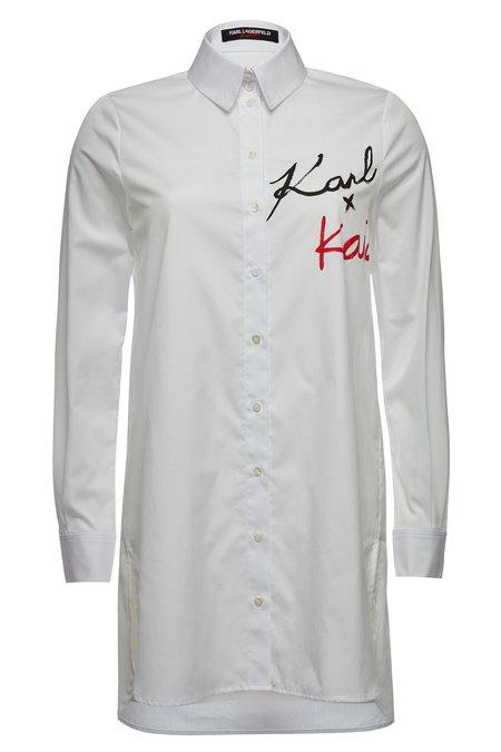 Printed Cotton Shirt | KARL X KAIA GERBER