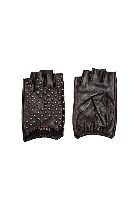 Karl x Kaia Gerber Embellished Leather Gloves | KARL X KAIA GERBER