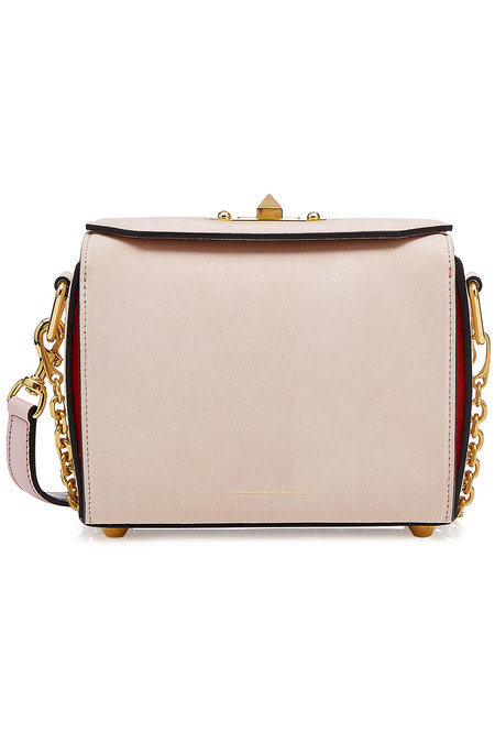 Leather and Suede Box Bag | ALEXANDER MCQUEEN