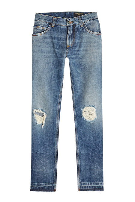 Distressed Slim Jeans   DOLCE & GABBANA
