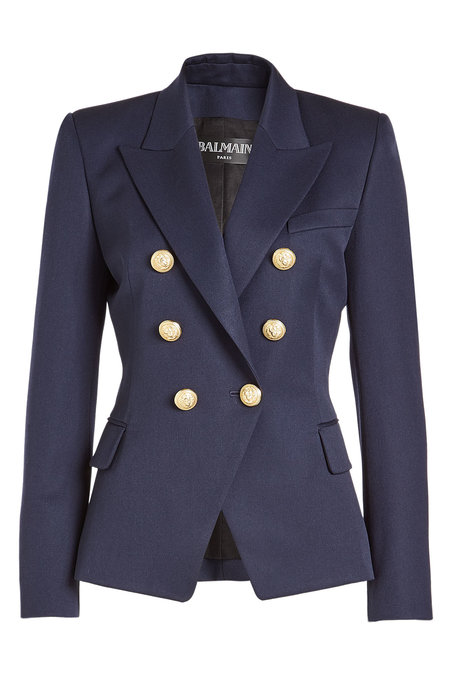 Blazer with Embossed Buttons | BALMAIN