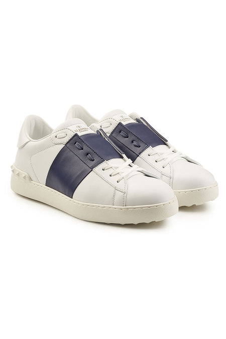 Open Leather Sneakers | VALENTINO