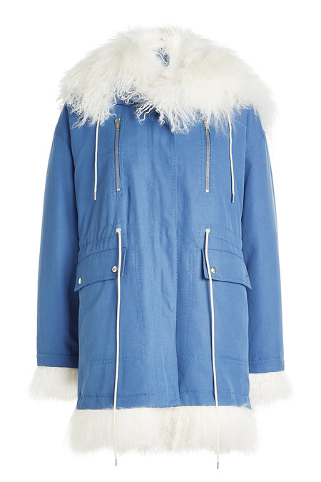 Cotton Parka with Shearling Trim | CALVIN KLEIN 205W39NYC