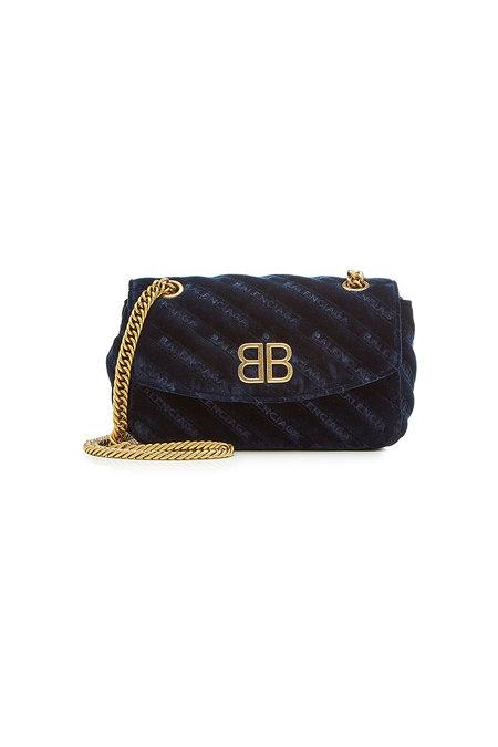 Chain Velvet Shoulder Bag | BALENCIAGA