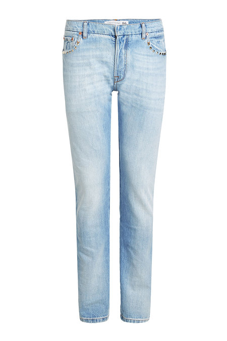 Slim Jeans with Rock Stud Detail   VALENTINO