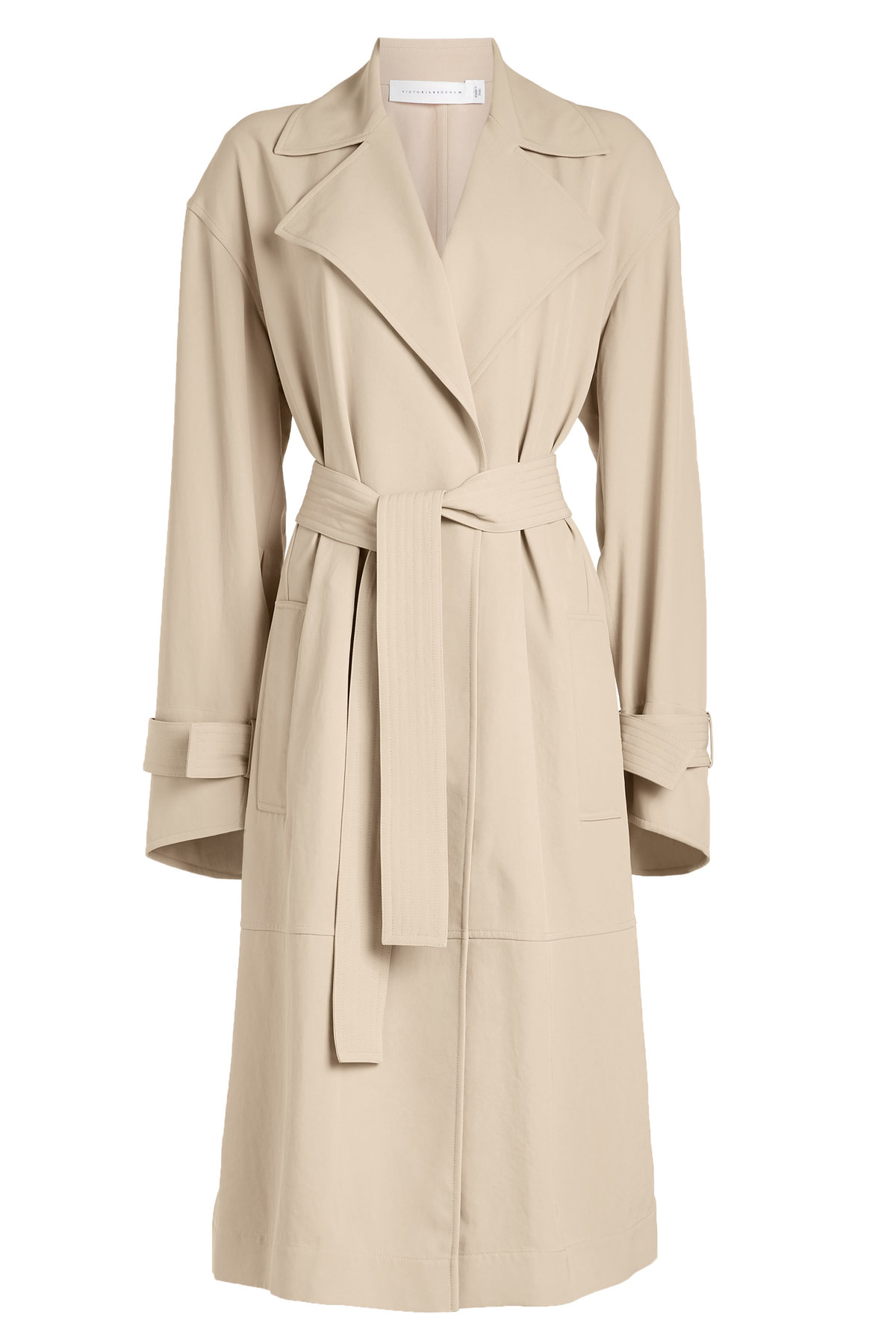 Wrap Sleeve Fluid Trench Coat | VICTORIA BECKHAM