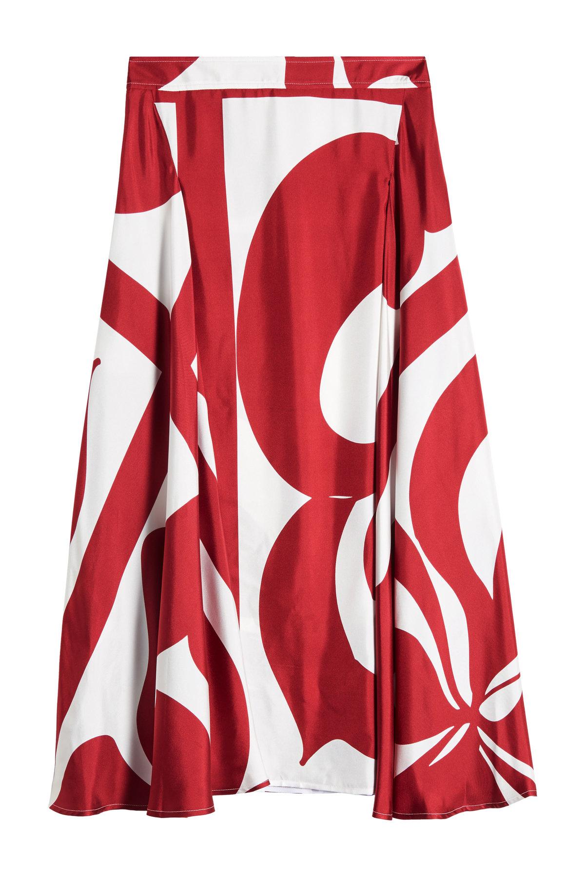 Printed Silk Skirt | VICTORIA BECKHAM