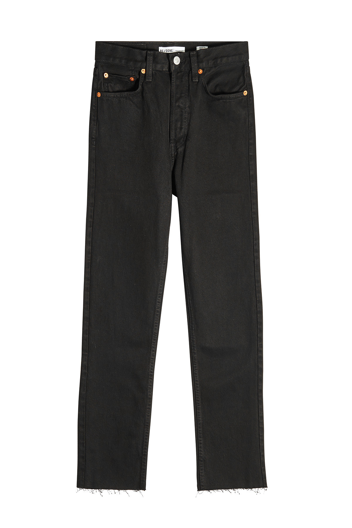 High Waisted Stovepipe Jeans | RE/DONE