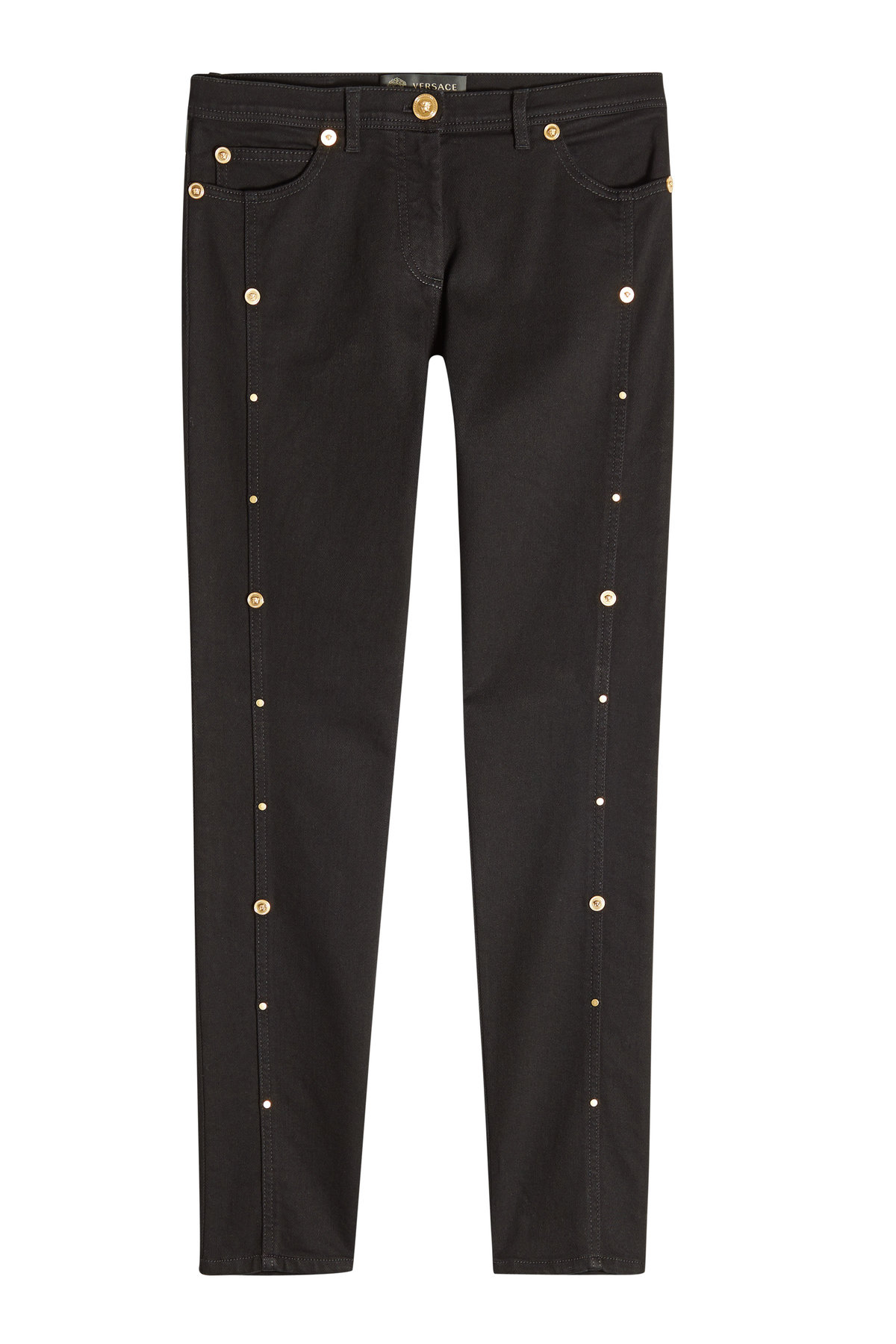 Skinny Jeans with Studs | VERSACE