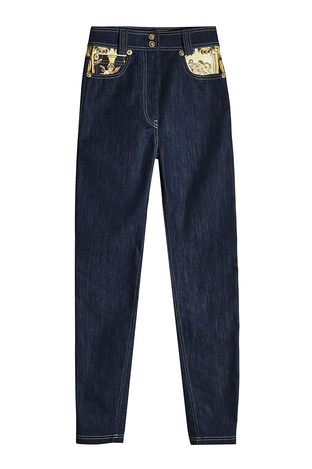Skinny Denim with Printed Pockets | VERSACE