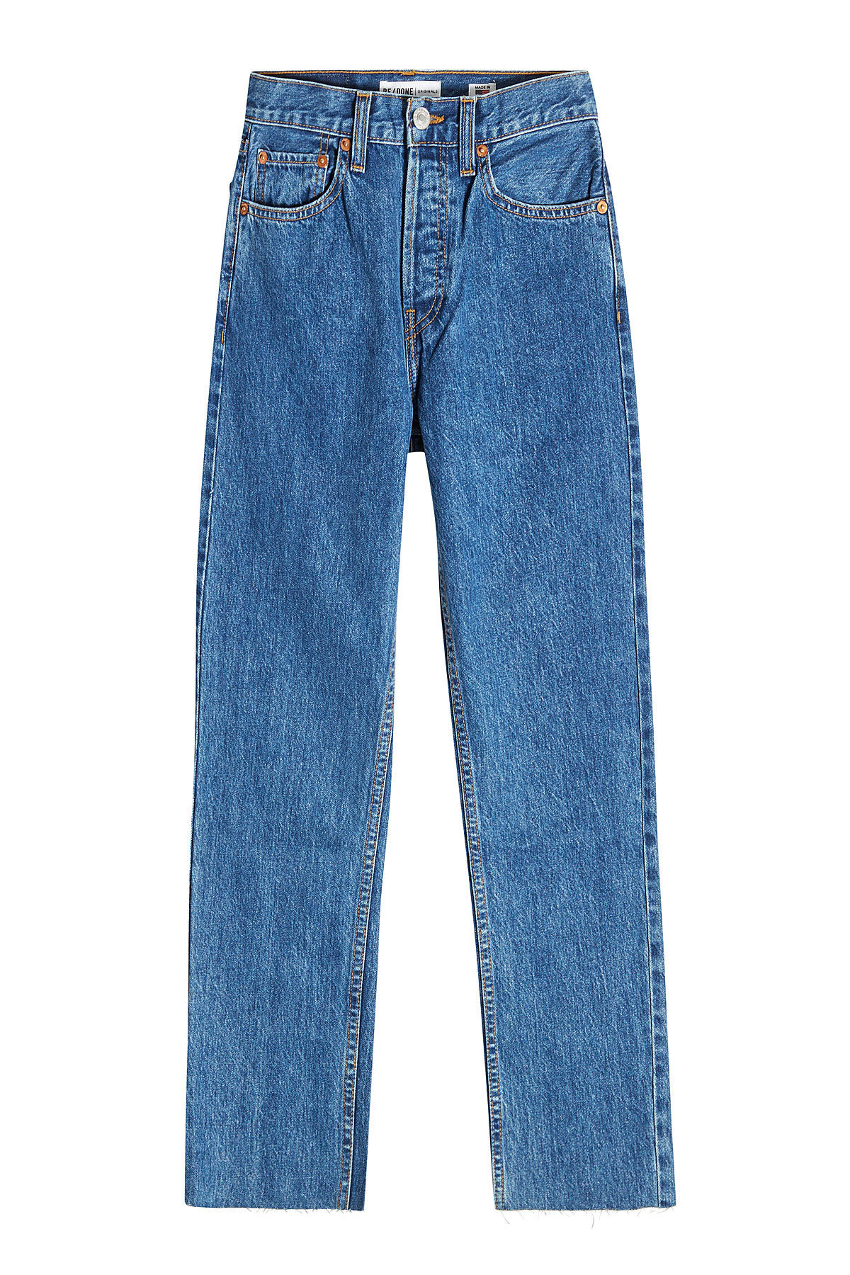 Stovepipe High-Waisted Cropped Jeans | RE/DONE