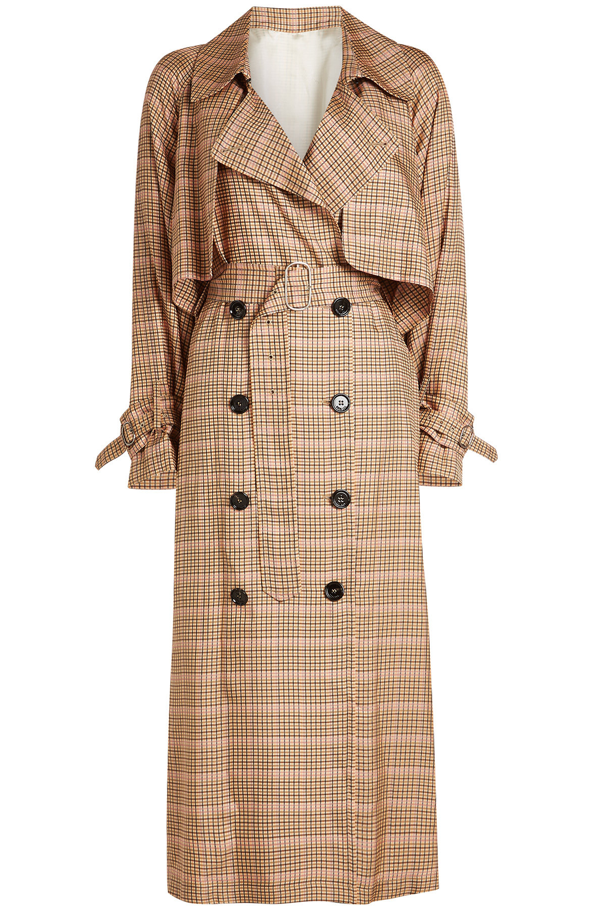 Vela Checked Trench Coat | GOLDEN GOOSE DELUXE BRAND