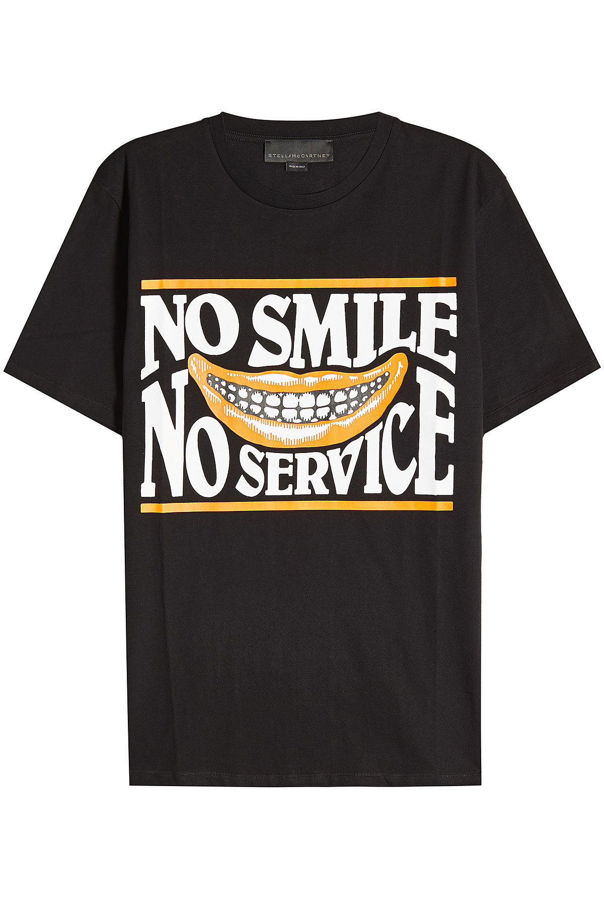 No Smile No Service Cotton T-Shirt | STELLA MCCARTNEY