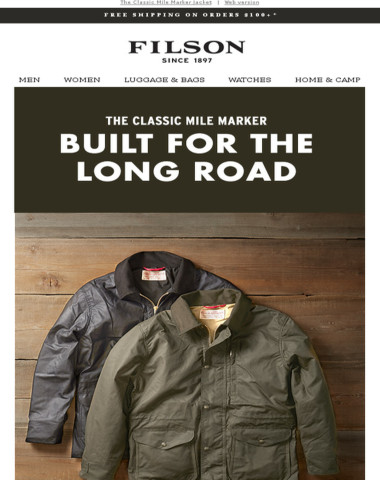 Filson The Mile Marker Built For The West Coast East