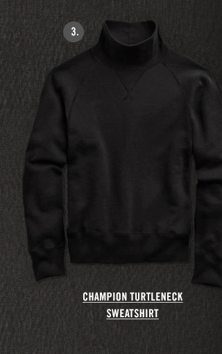 CHAMPION TURTLENECK SWEATSHIRT IN BLACK