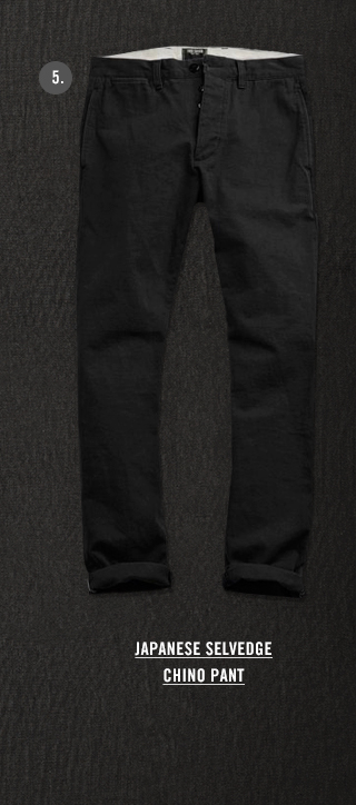 TODD SNYDER SELVEDGE CHINO OFFICER PANT IN BLACK