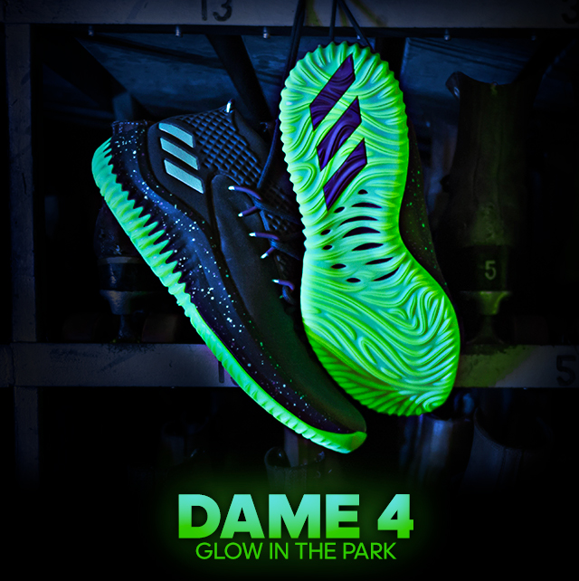 cdc1fc09a177 Adidas - Roll with Dame 4 Glow in the Park
