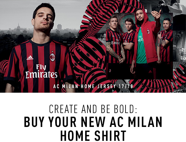 The new AC Milan Home Jersey