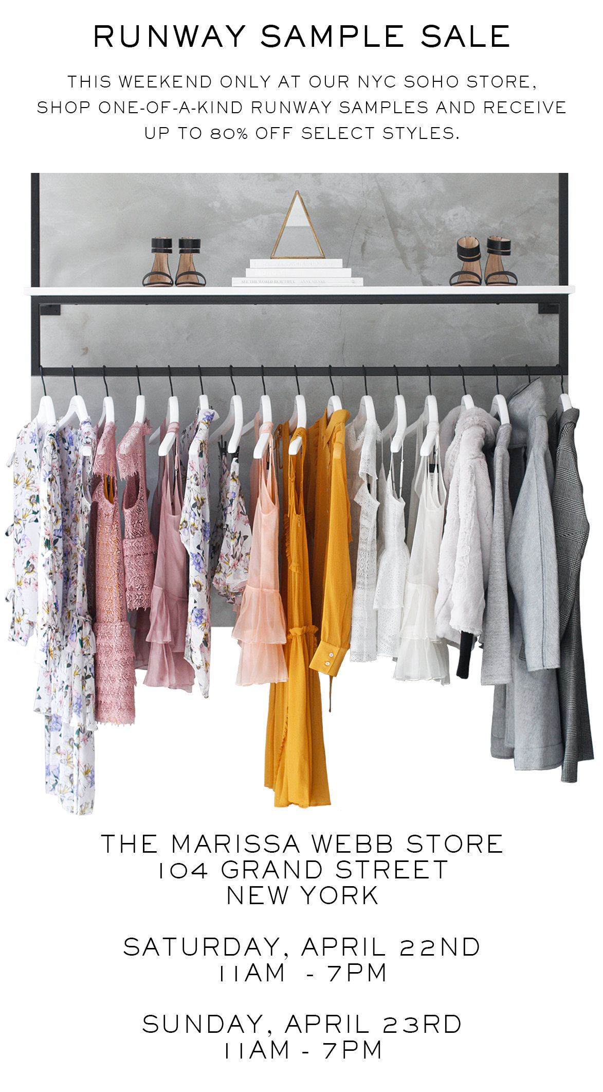 Marissa Webb - In case you didn't hear... Up to 80% off + Runway ...