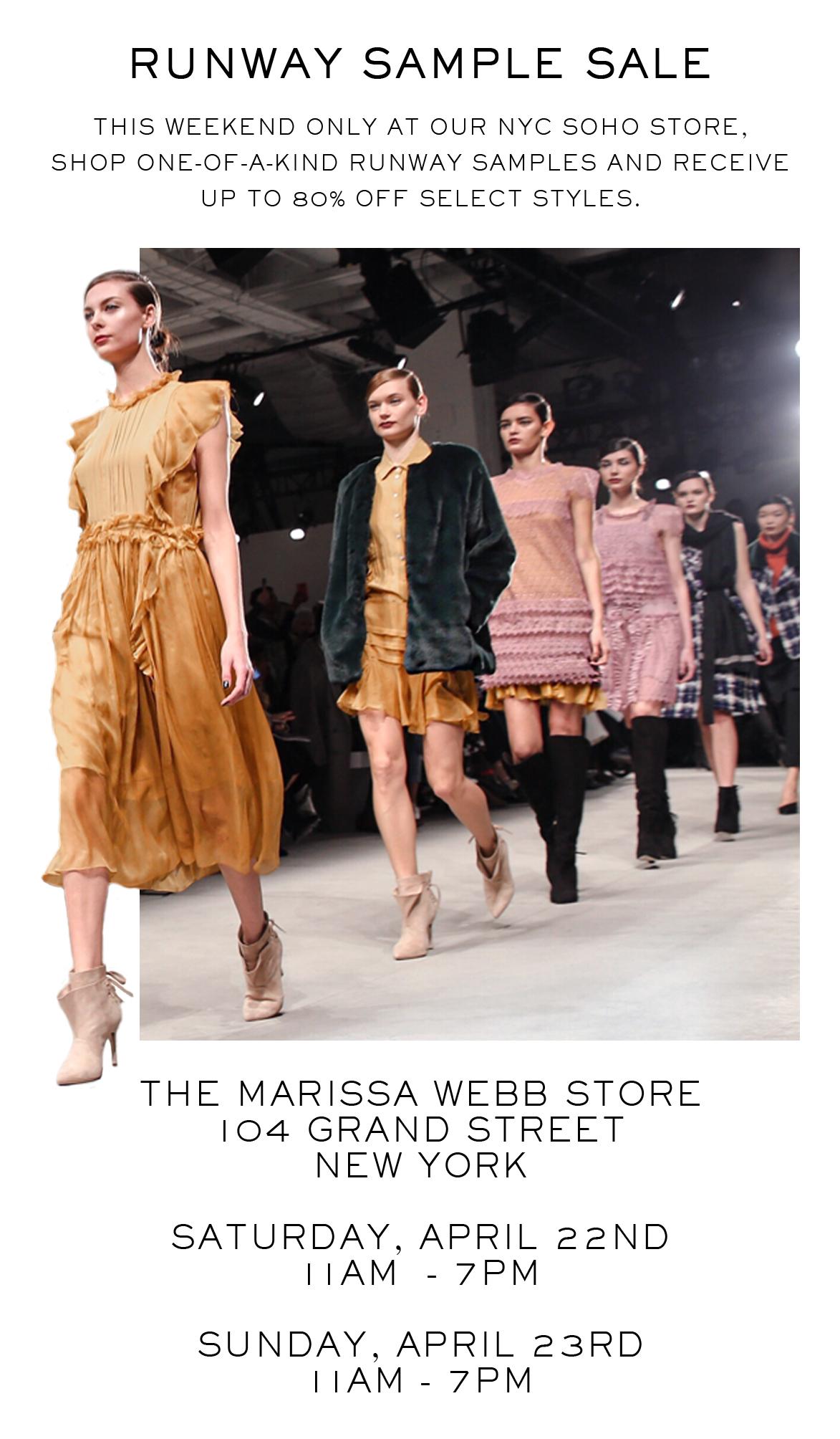 Marissa Webb - You're Invited...Marissa Webb Sample Sale