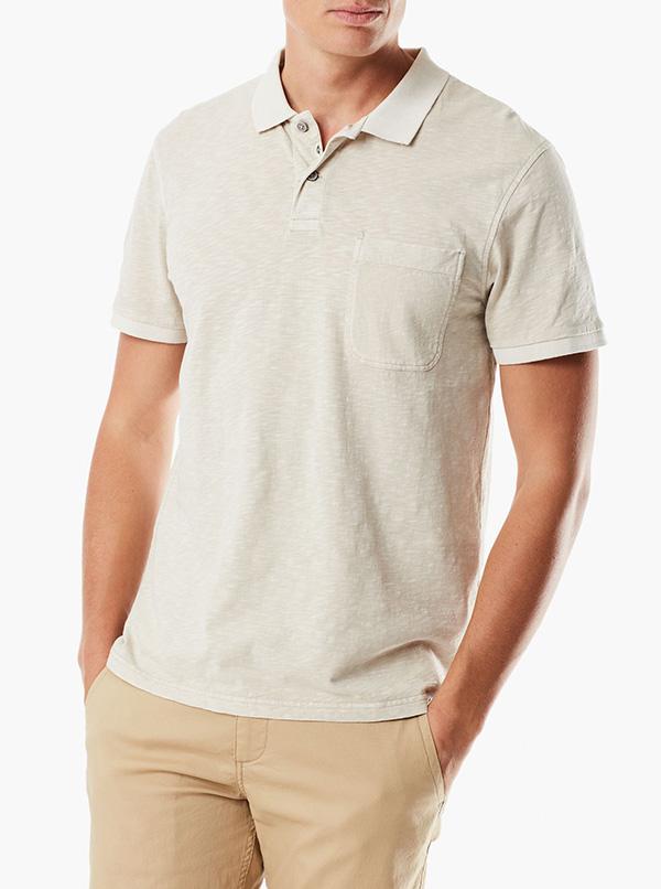 Polo Shirt With Smart 360 Flex™ Sahara Khaki