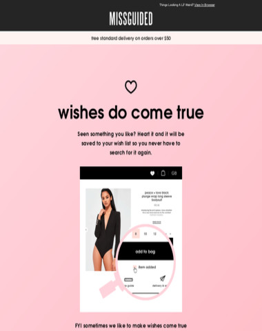 Missguided - Wishes do come true