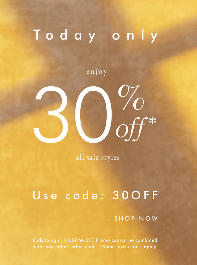 Today only enjoy 30% Off