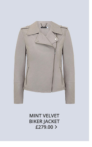 Shop Mint Velvet biker jacket