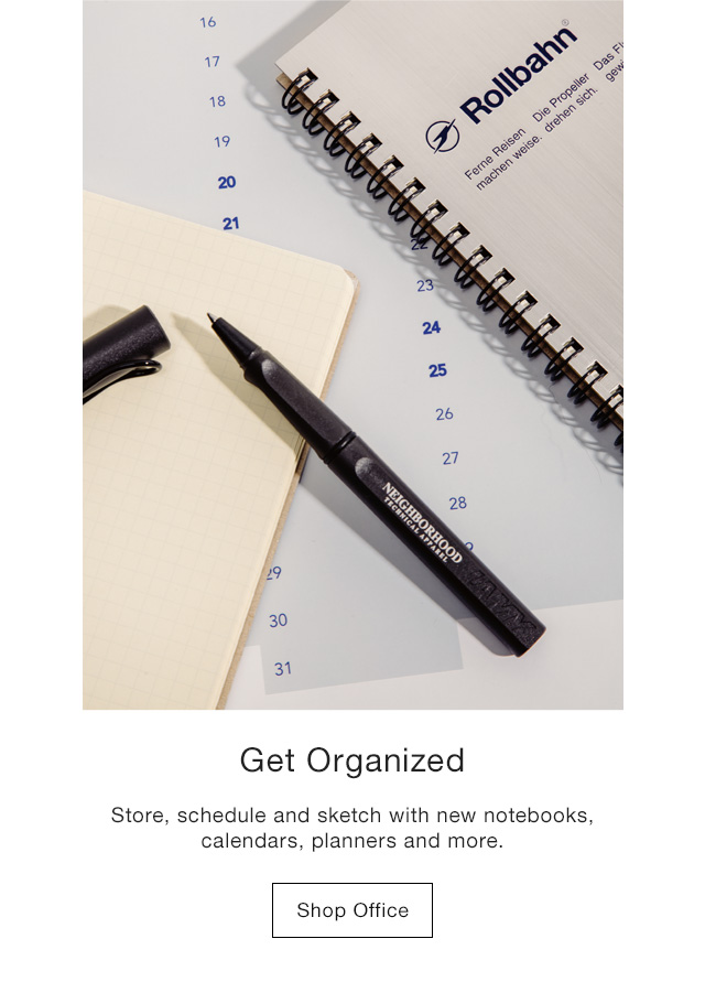 Get Organized Store, schedule and sketch with new notebooks, calendars planners and more. Shop Office