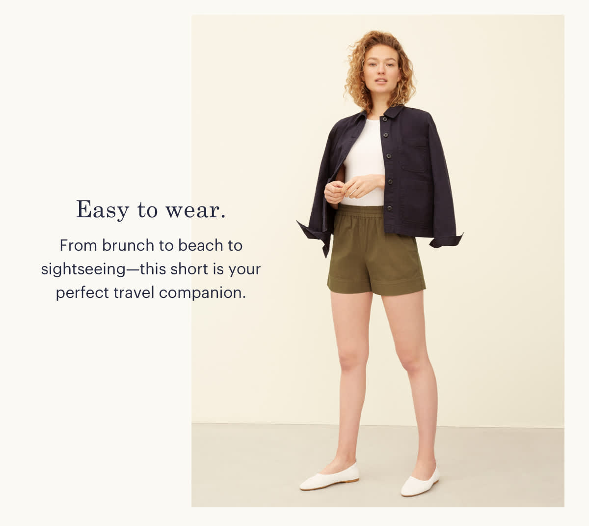 Easy to wear. From brunch to beach to sightseeing--this short is your perfect travel companion.