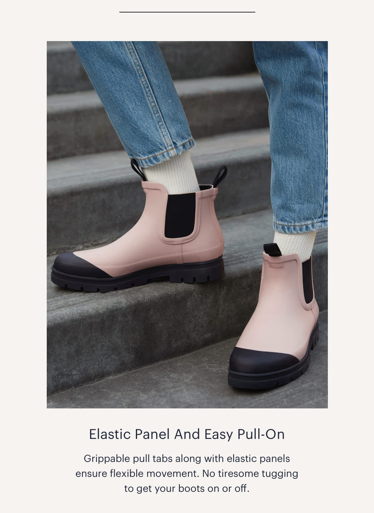 Elastic Panel And Easy Pull-On