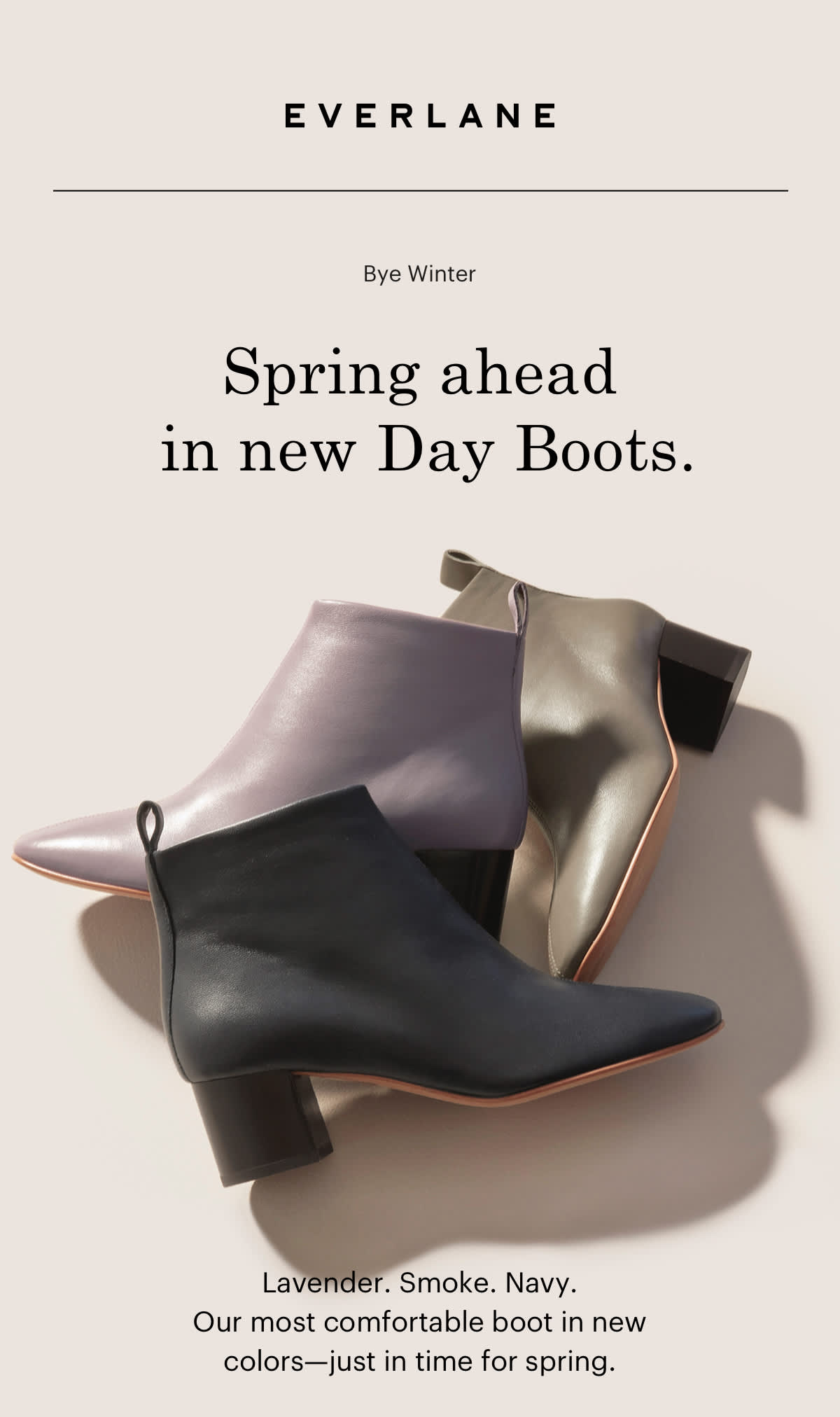 Spring ahead in new Day Boots.
