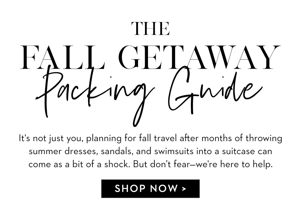 Fall Packing Guide