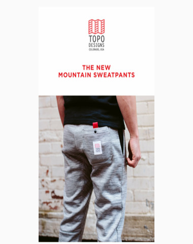 The New Mountain Sweatpants