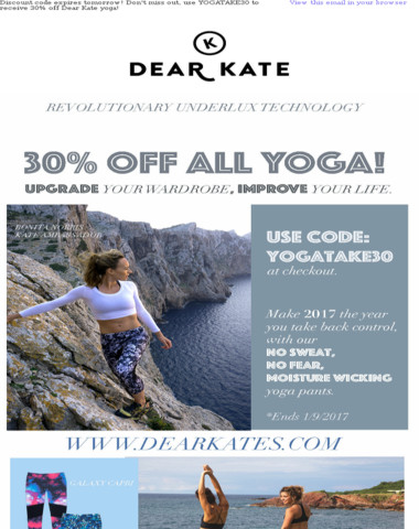 Last chance to take 30% off our yoga collection!! Use code YOGATAKE30 at checkout!