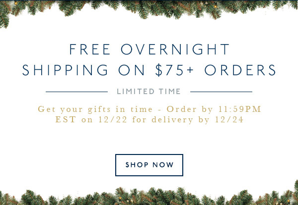 LIMITED TIME: FREE OVERNIGHT SHIPPING!