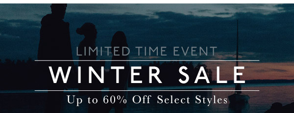 WINTER SALE - UP TO 60% OFF
