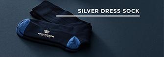 Silver Dress Sock