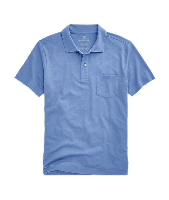 Vesper Polo In Dean Blue Pocket