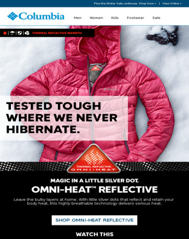 Your cold-weather fix: Omni-Heat.