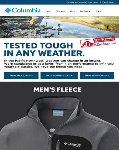 Winter Sale + all-weather fleece.