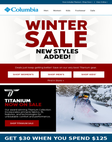New styles added to the Winter Sale!