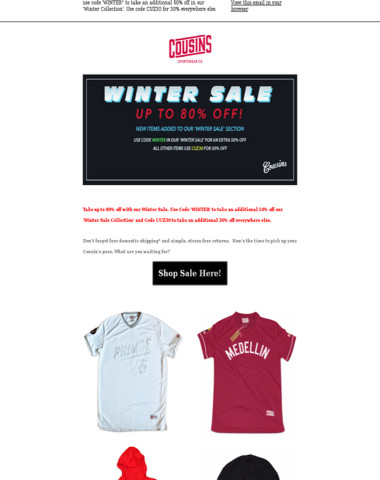 Winter Sale - Save Up to 80% Off!