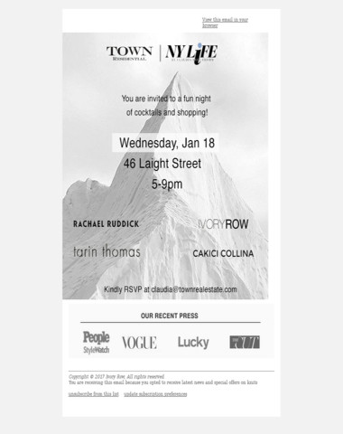 Ivory Row Trunk Show NYC